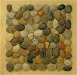 Polished pebble mosaic