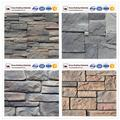 Interior and exterior wall decoration faux stone veneer panel