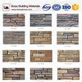 Decorative faux ledge stone veneer wall siding