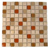 Travertine - Glass Mosaic Auburn