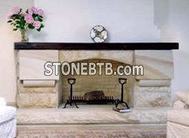 Mt White sandstone fireplace surround