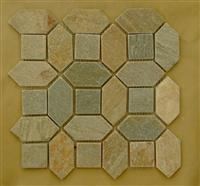 Interlocking Slate mosaic