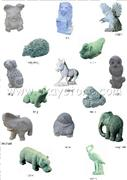 animal stone carving/sculpture