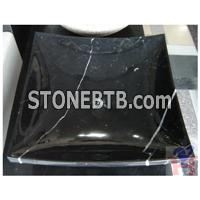 Black marquina sink