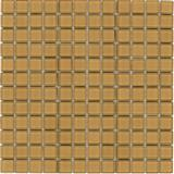 light brown glass mosaic