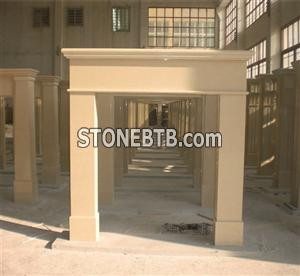 Man made marble fireplace, marble fireplace surrou
