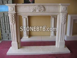 Pink Marble Fireplace Mantel