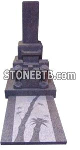Japanese Style Tombstone 076