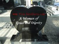 US heart style monuments& tombstones