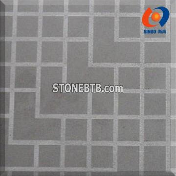 Black Mongolia Tile with Chessboard Finish