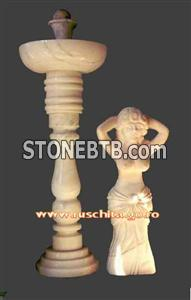 Marble sculpture, granite staute