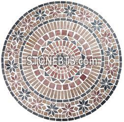 rosso travertine medallion
