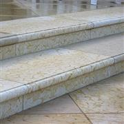 Golden Sand Marble Stairs
