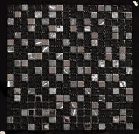 glass mixed stone mosaic design