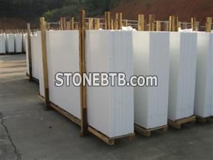 Pure White Nano Crystallized glass Slabs