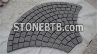 G654 fan-shaped outdoor stone,paving stone,granite material