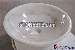 Guangxi White Marble Sink