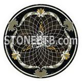 Water jet mosaic floor tiles