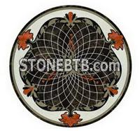 round stone water jet mosaic tile for indoor floors decoration