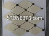 Natural Beige Marble Stone Mosaic