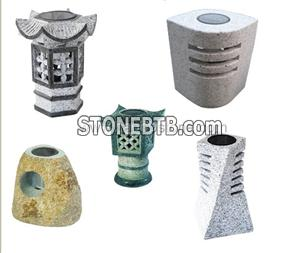Granite marble ,natural stone solar lanterns-2