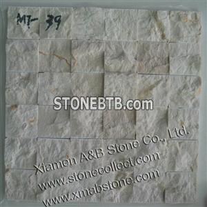 split surface quartzite mosaic tiles MT-39