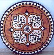 Waterjet Marble Inlay Round Table top