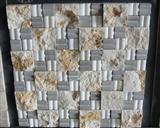 Wall Natural Marble Split Face Mosaic