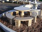 Garden stone table and chiar