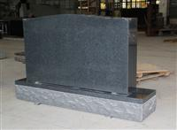 Dark Gray G654 Americal Upright Die and Base Monument