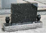 Blue Pearl Granite American Upright Die and Base Monument
