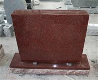 Indian Red American Upright Die and Base Monument