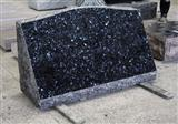 Blue Pearl Granite Polished Monumental Slant Marker Tombstone