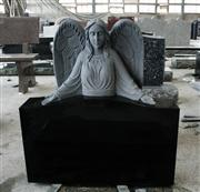 Shanxi Black Polished Angel Tombstone & Monument