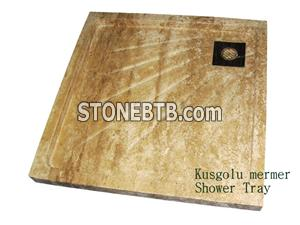 Travertine Shower tray K4