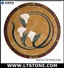 Stone Water jet Medallion Callalilly
