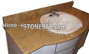 granite kitchen countertops, bathroom vanities with ceramic sinks