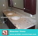 white granite bathroom tops with ceramic sinks