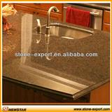 Light Emperador marble top for bathroom use