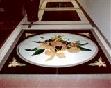Entry Hallway Floral Medallion