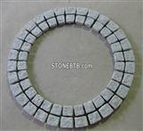 Nature Granite Cube Stone, Meshed Stone