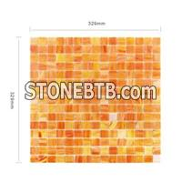 Stainless Steel Glass Mosaic Tile for Wall Decoration