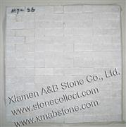white quartzite mosaic tiles MT-26