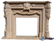 Beige Fireplace Mantle, Beige Stone Fireplace Mant