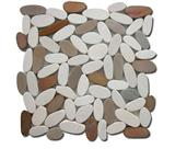 Mixed pebble tile