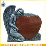 Hand carved Granite Angel Monuments With Popular Heart Design