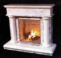 Marble, limestone fireplaces