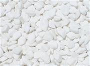 Snow white crushed stone
