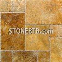 Ankara Gold Travertine Brushed Versailles