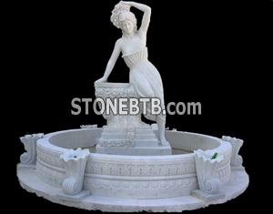 Stone Carving-Garden Pretty Fountain PS-B04